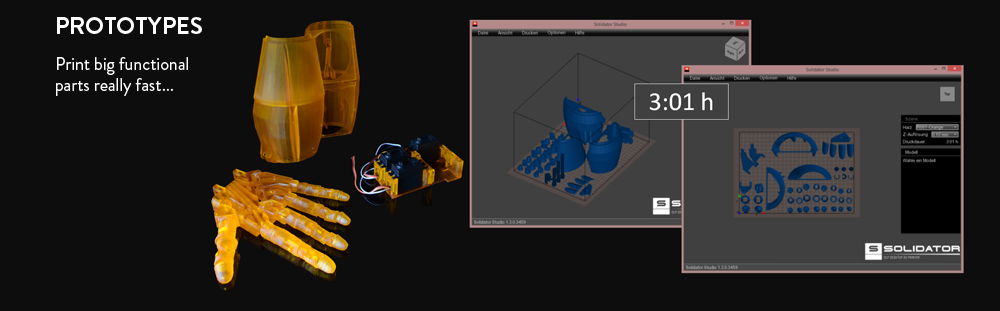 Prototypes - Print big functional parts really fast ...